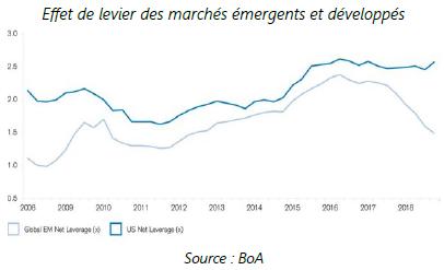 Effet de levier des marchés émergents et developpes - 03.02.2020