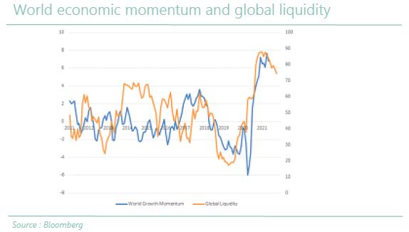 World economic momentum and global liquidity
